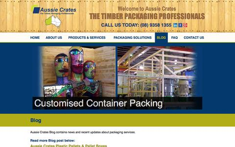 Screenshot of Blog aussiecrates.com.au - Aussie Crates Blog | Packaging Solutions and Services - captured Oct. 4, 2014