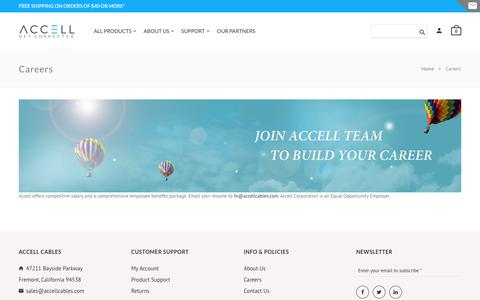 Screenshot of Jobs Page accellcables.com - Careers   Accell - captured Oct. 7, 2017