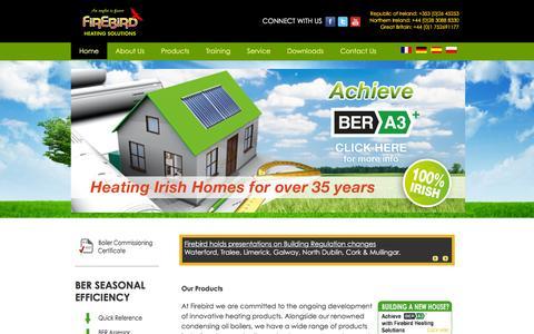 Screenshot of Home Page firebird.ie - Welcome to Firebird - captured Feb. 10, 2016