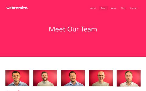 Screenshot of Team Page webrevolve.com - Meet Our Team | Webrevolve | Creative & Innovative Web Design in Liverpool - captured Sept. 20, 2018