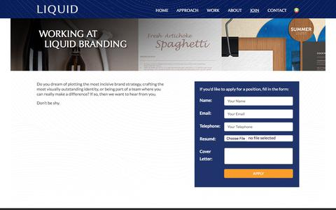 Screenshot of Signup Page liquid-branding.com - Join LIQUID – Don't be shy - captured Aug. 16, 2017