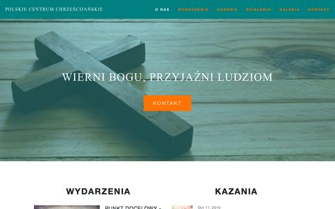 Screenshot of Home Page polskiecentrum.com - Polskie Centrum Chrześcijańskie - captured Oct. 12, 2015