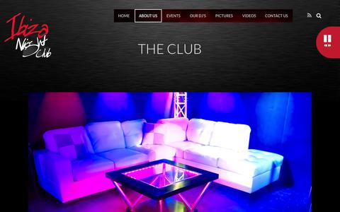 Screenshot of About Page ibizanc.com - THE CLUB - - captured Oct. 27, 2014