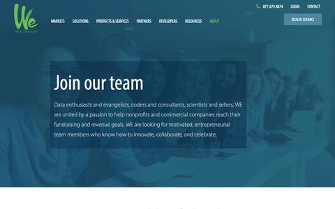 Screenshot of Jobs Page wealthengine.com - Careers - WealthEngine - captured Nov. 26, 2018