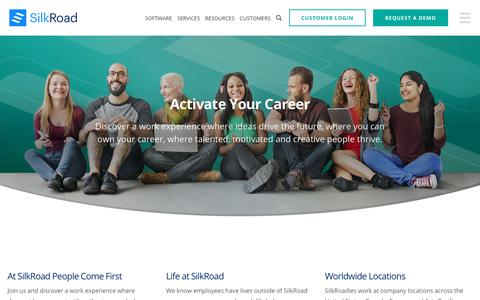 Screenshot of Jobs Page silkroad.com - Careers - Browse Open Positions | SilkRoad - captured July 7, 2017