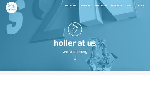 Screenshot of Contact Page s2ndesign.com - Contact S2N Design Now | Web Design | Branding | Marketing Memphis Web Design | S2N Design - captured Sept. 22, 2014