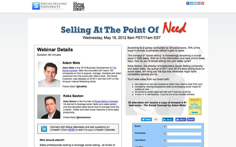 Free Webinar: Selling at the Point of Need