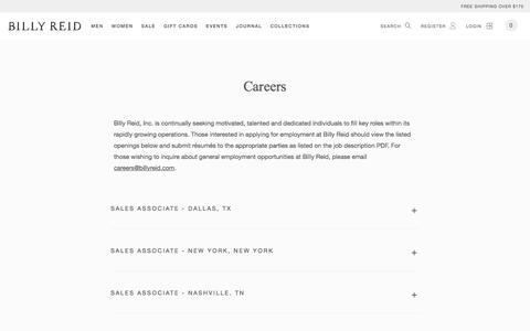 Careers   Billy Reid