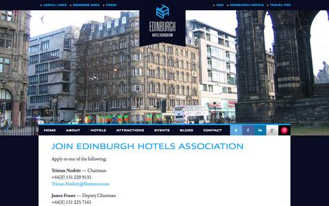 Screenshot of Signup Page stayinedinburgh.net - Edinburgh Hotels Association, Stay In Edinburgh, cheap hotels in Edinburgh - captured March 4, 2016