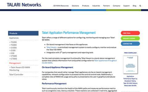 Screenshot of Team Page talari.com - Application Performance Management & Network Monitoring | SD-WAN | Talari - captured July 13, 2018