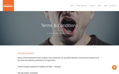 Screenshot of Terms Page eldraw.co.uk - Terms and Conditions | elDRAW - captured Nov. 15, 2016