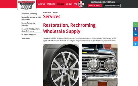 Screenshot of Services Page blackburnwheels.com - Services - Blackburn Wheels - Blackburn - captured Oct. 6, 2018