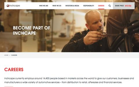 Screenshot of Jobs Page inchcape.com - Careers - Inchcape - captured Oct. 27, 2016