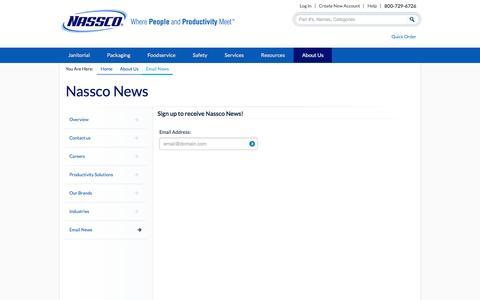 Screenshot of Signup Page nasscoinc.com - Nassco News | Nassco - captured Feb. 27, 2016