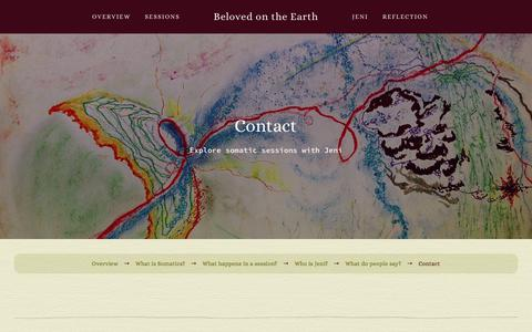 Screenshot of Contact Page belovedontheearth.com - Contact — Beloved on the Earth - captured Aug. 8, 2017