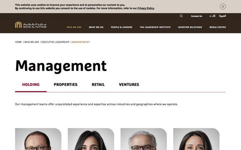 Screenshot of Team Page majidalfuttaim.com - Discover Our Executive leaders & Management Team | Majid Al Futtaim - captured Sept. 7, 2019