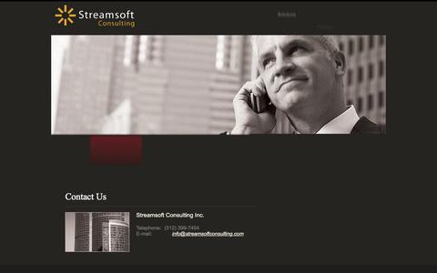 Screenshot of Privacy Page Contact Page streamsoftconsulting.com - Contact Us - captured Feb. 25, 2016