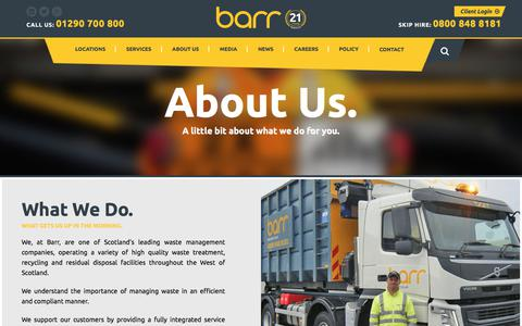 Screenshot of About Page barr.co.uk - About Us - Barr - captured July 25, 2018