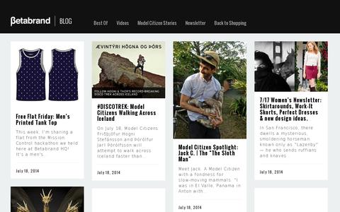 Screenshot of Blog betabrand.com - Betabrand Blog » - captured July 20, 2014