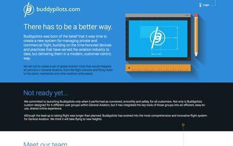 Screenshot of About Page buddypilots.com - BuddyPilots.com - captured Nov. 23, 2016