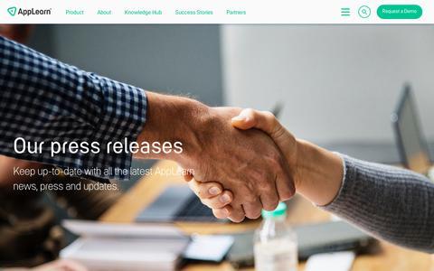 Screenshot of Press Page applearn.com - Press - AppLearn® - captured June 14, 2019