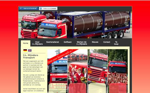Screenshot of Home Page mijnders-transport.nl - J.L.Mijnders Transport - captured Oct. 3, 2014