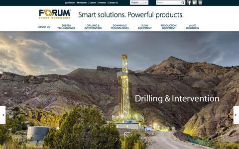 Screenshot of Home Page f-e-t.com - Forum Energy Technologies - captured Oct. 22, 2015