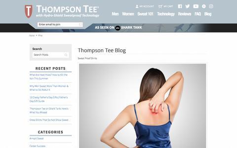 Thompson Tee Blog  | Sweat Proof Shirts