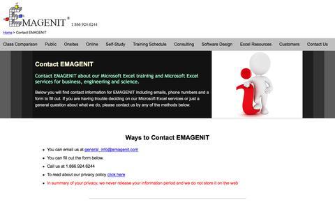 Screenshot of Contact Page emagenit.com - Contact EMAGENIT - captured June 29, 2017