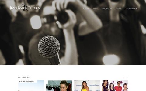 Screenshot of Press Page jeanralphthurin.com - JeanRalphThurin | A Luxury Bridal Design House - Press - captured Nov. 19, 2016
