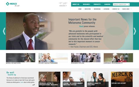 Screenshot of Contact Page idenix.com - Merck.com - captured Sept. 16, 2014