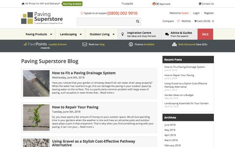 Screenshot of Blog pavingsuperstore.co.uk - Paving & Garden Blog   Paving Superstore - captured July 16, 2018