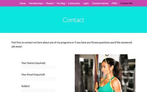 Screenshot of Contact Page bikinifit.com - Contact   Bikini Fit Fitness - captured Dec. 15, 2016