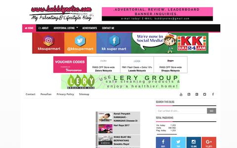 Screenshot of Home Page bubblynotes.com - Bubblynotes - Malaysia Parenting & Lifestyle Blog - captured July 1, 2017