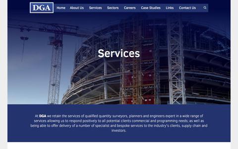 Screenshot of Services Page dga.eu.com - - DGA EU - captured Feb. 8, 2016