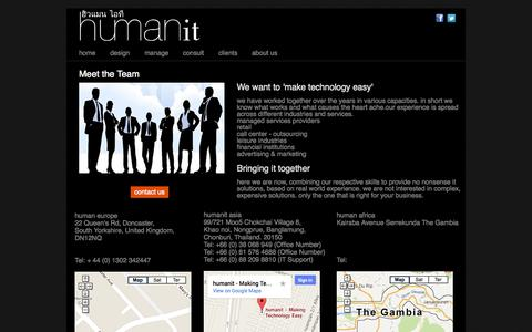 Screenshot of About Page humanit.asia - About Humanit & Contact - Making Technology Easy - captured Oct. 3, 2014