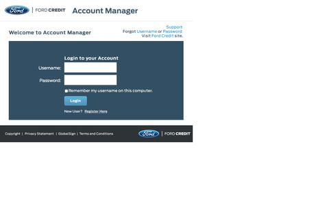 Login to Account Manager