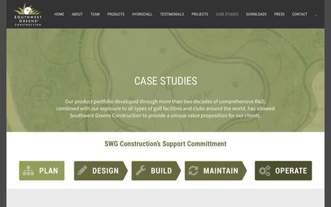 Screenshot of Case Studies Page southwestgreens.eu - CASE STUDIES | Southwest Greens Construction - captured Oct. 24, 2017