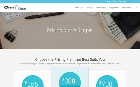 Screenshot of Pricing Page omnicall.com - Pricing - OmniCall - captured Dec. 17, 2016