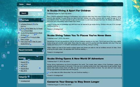Screenshot of Home Page first4scuba.com - First 4 Scuba - captured Sept. 30, 2014
