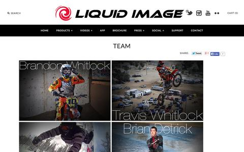 Screenshot of Team Page liquidimageco.com - Team - captured Sept. 25, 2014