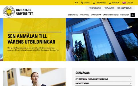 Screenshot of Home Page kau.se - Hem | Karlstads universitet - captured Nov. 27, 2016