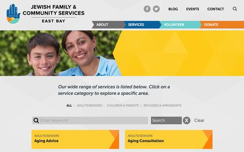 Screenshot of Services Page jfcs-eastbay.org - JFCS East Bay Services - JFCS East Bay - captured Feb. 11, 2016