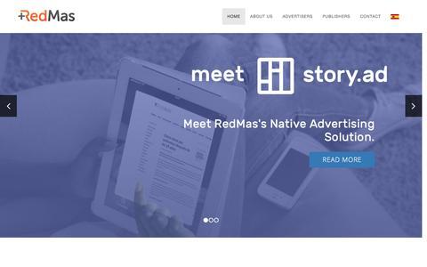 Screenshot of Home Page redmas.com - RedMas | The Digital Advertising Solutions Company. - captured Oct. 25, 2016