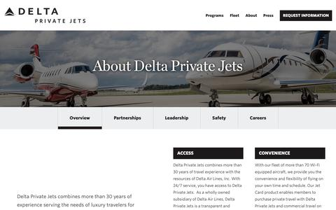 Screenshot of About Page Team Page deltaprivatejets.com - About Delta Private Jets - Delta Private Jets | Delta Private Jets - captured Nov. 20, 2018