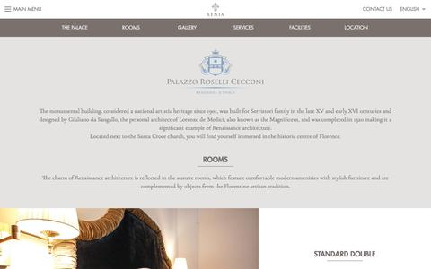 Screenshot of Services Page Locations Page xeniahc.com - Palazzo Roselli Cecconi - Xenia Hotels Collection - captured July 13, 2017