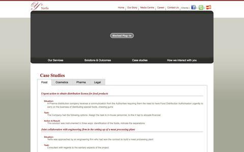 Screenshot of Case Studies Page yerfis.com - Yerfis :: Case Studies & Testimonials - captured Oct. 27, 2014