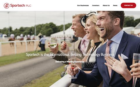 Screenshot of Home Page sportechplc.com - Sportech PLC – The international betting technology business - captured Oct. 18, 2018