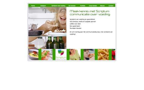 Screenshot of Home Page scriptum-site.nl - Scriptum communicatie over voeding, tekst, recept, advies over voeding - captured Oct. 6, 2014