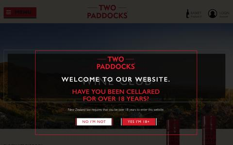 Screenshot of Signup Page twopaddocks.com - Wine Club - Two Paddocks - captured Dec. 8, 2016